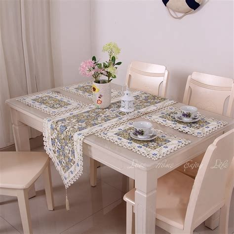 dining room table runners 2015 fall new elegant floral full embroidery table runner