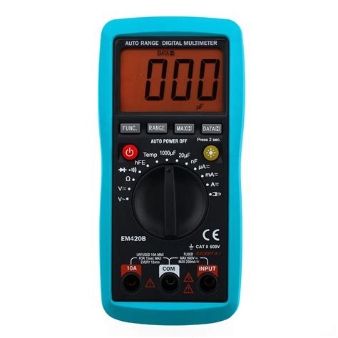 Ac Portable Electronic Solution all sun digital multimeter diode transistor battery tester
