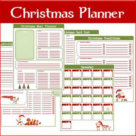 free holiday planner printable a typical english home freebie thursday christmas
