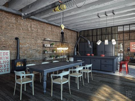 Rustic Kitchen Canisters industrial loft