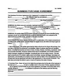 Business Purchase Agreement. Offer To Purchase Real Estate