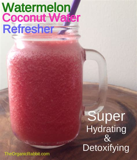 Detoxing With Coconut Water by Watermelon Coconut Water Hydrate Detox Paleo Gluten Free