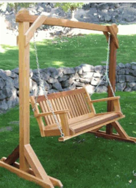 build   standing swing frame