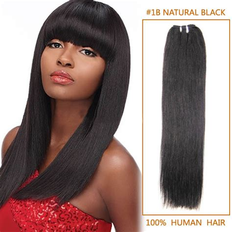 black hairstyles with remy hair 16 inch 1b natural black straight indian remy hair wefts