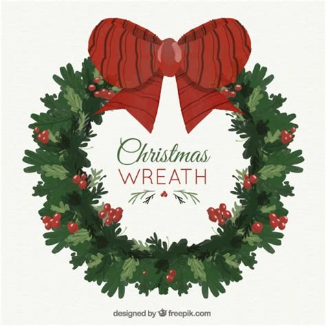 big wreath wreath with a big bow vector free