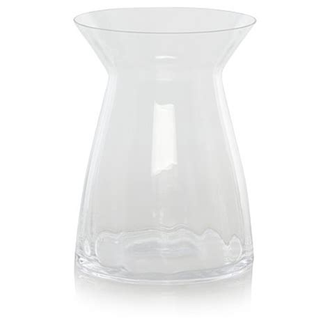 george home clear peplum vase vases artificial flowers