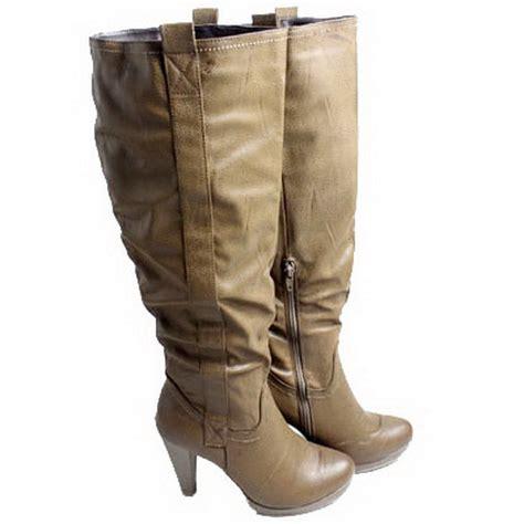 womens boots size 5 9 dulce rubio knee high high heel med