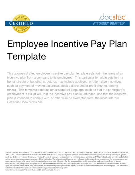 best photos of incentive bonus plan templates incentive