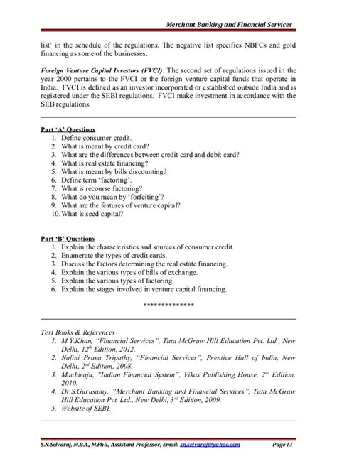 Investment Banking Notes Mba by Merchant Banking And Financial Services Unit 5 Notes For Mba