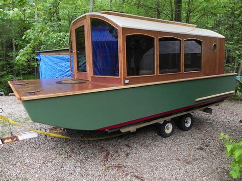 house boat trailers adorable and super functional micro houseboat