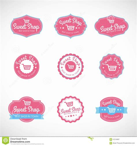 Pink By Z Shop pink sweet shop and shopping cart banner vector vintage