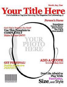 magazine front page template make your own title magazine cover