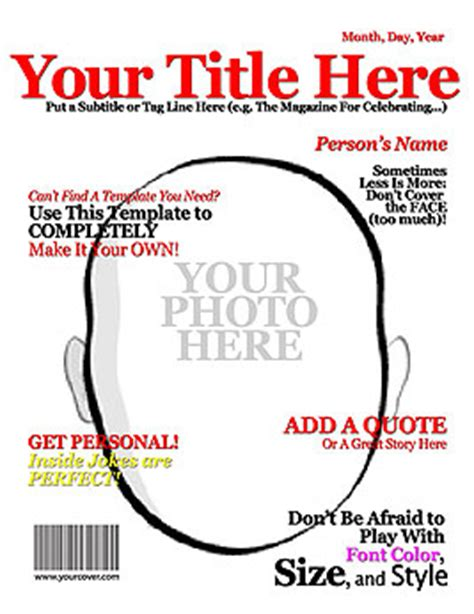 magazine cover layout templates make your own title magazine cover