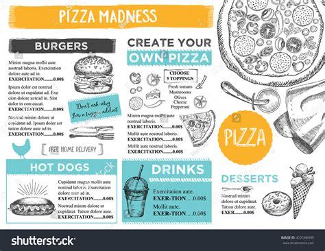 Menu Placemat Food Restaurant Brochure Menu Stock Vector 412168399 Shutterstock Placemat Menu Templates