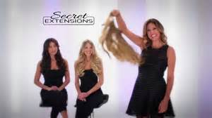 invisible hair extensions as seen on tv daisy fuentes introduces secret extensions youtube