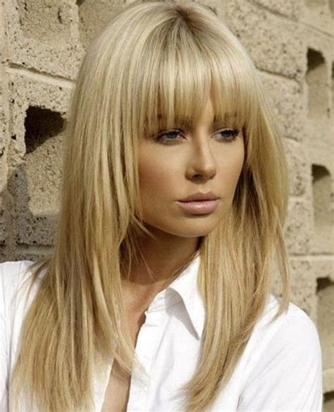hairstyles with fullness 15 best of long hairstyles with full fringe