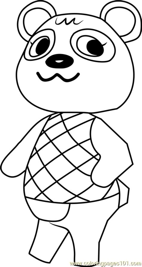 Pinky Animal Crossing Coloring Page - Free Animal Crossing