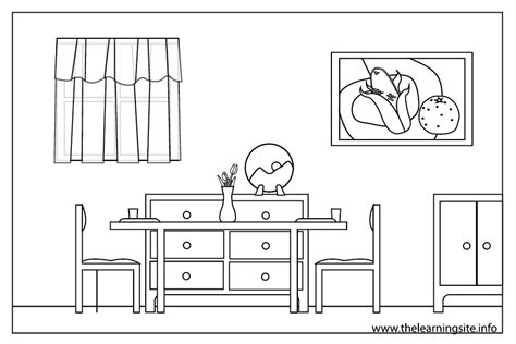coloring pages furniture house room clipart coloring page pencil and in color room