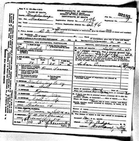 Kentucky Vital Records Birth Certificate Pa Vital Records Birth Certificates Records Autos Post