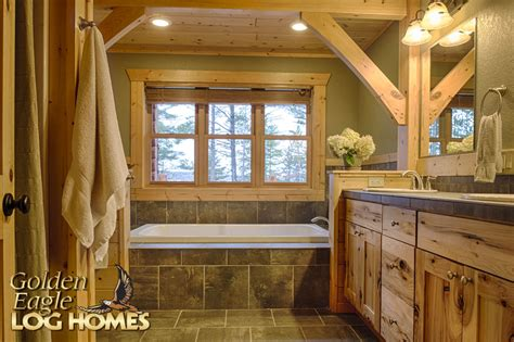 Small Rustic Bathroom Ideas by Golden Eagle Log And Timber Homes Exposed Beam Timber