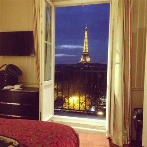 best view of eiffel tower from hotel room room 55 view picture of hotel duquesne eiffel tripadvisor