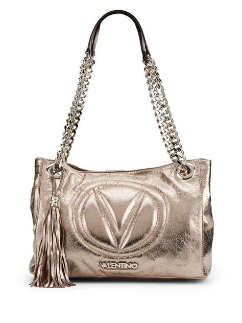 10 Valentino Bags by Valentino Luisa Metallic Leather Shoulder Bag In Metallic