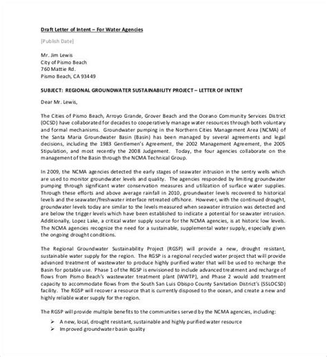 Letter Of Intent Sle Draft Simple Letter Of Intent Templates 18 Free Sle Exle Format Free Premium Templates