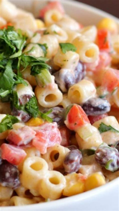 mexican pasta salad with creamy southwestern dressing pinterest the world s catalog of ideas