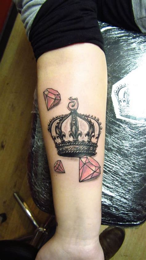 diamond tattoo and custom art crown and diamonds tattoo 2014 pinterest tattoos and