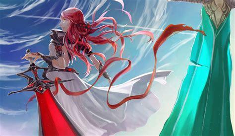 imagenes anime niñas fondos de pantalla guerrero espadas pelirrojo nia cinta