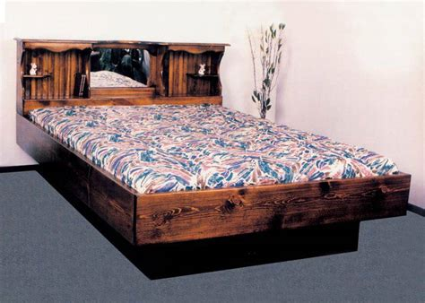waterbed and futon waterbed monarch i complete hb fr deck ped k king pine