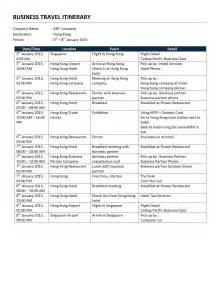 itinerary template word business travel itinerary template free microsoft word