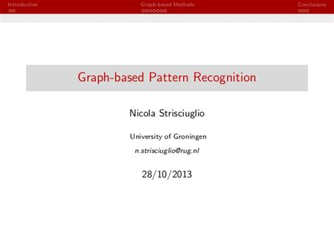 pattern recognition slideshare graph based pattern recognition