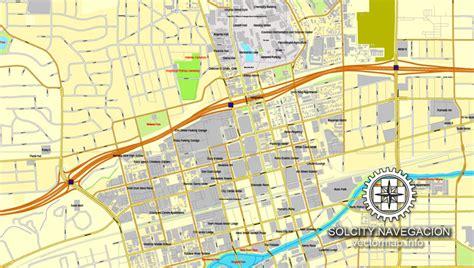 reno usa map reno nevada us printable vector city plan map