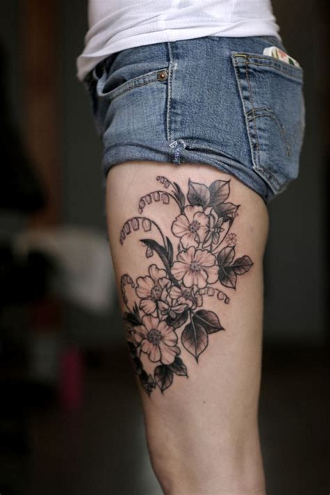 floral thigh tattoo designs 248 best tattoos images on ideas