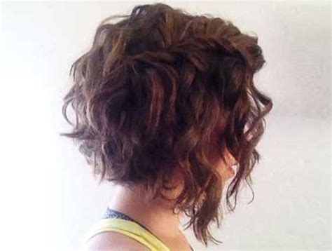 short bob haircut with wavy perm 25 curly perms for short hair short hairstyles