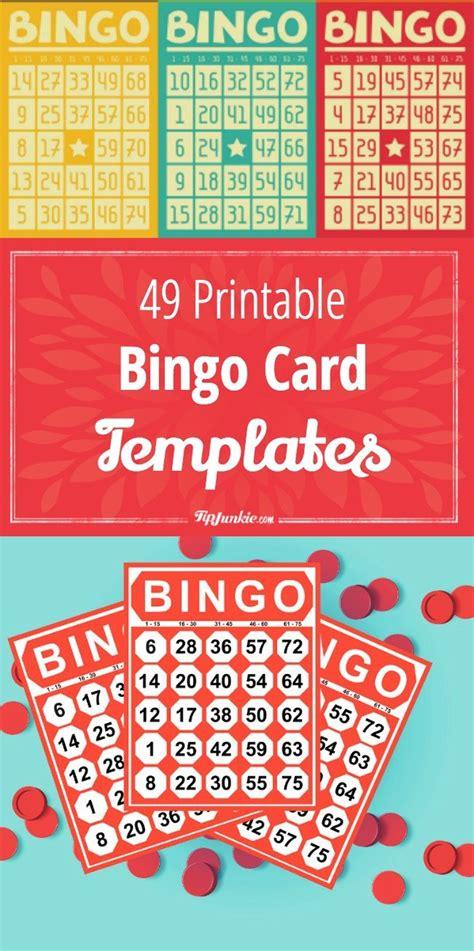 how to make a bingo card 49 printable bingo card templates tip junkie