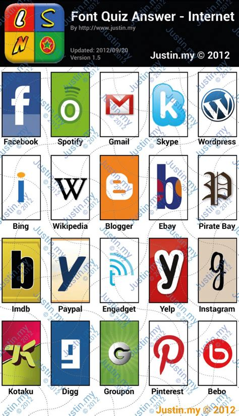typography quiz pin fonts quiz answers phones apps tablets on
