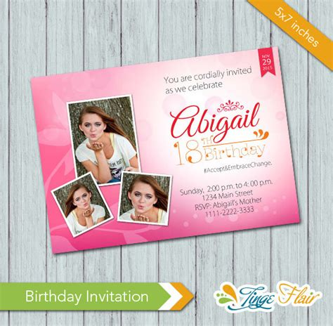 templates for debut invitations debut birthday invitation birthday invitation psd