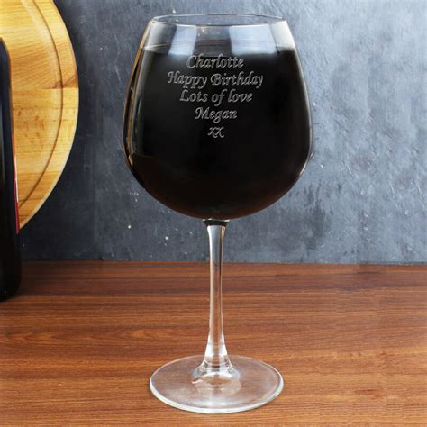personalised bottle of wine glass buy from prezzybox com