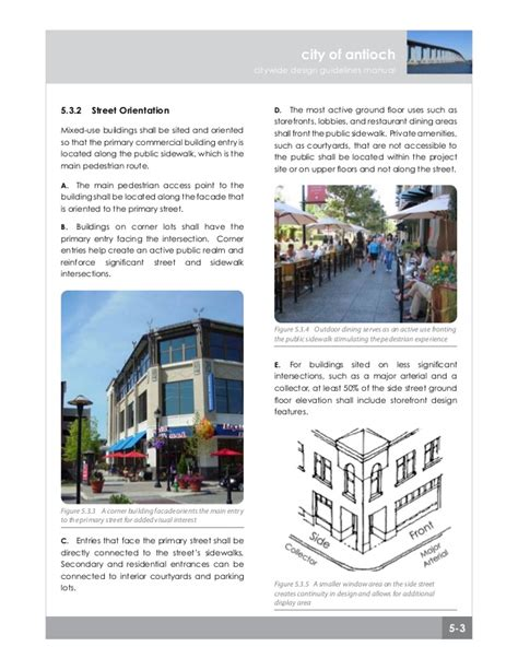 design criteria building chapter 5 mixed use design guidelines