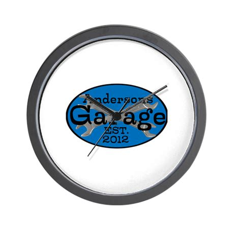 personalized garage wall clock by personalizedgifts2