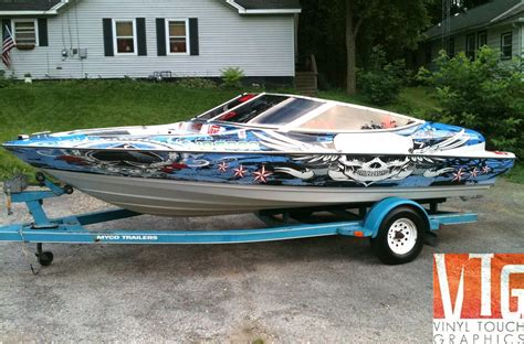 boat wraps michigan cool boat graphics bing images