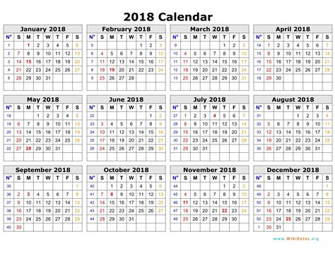 calendar 2018 printable one page paper trail design adorable year