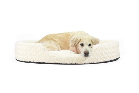 furhaven nap pet bed ultra plush oval lounger dog or cat