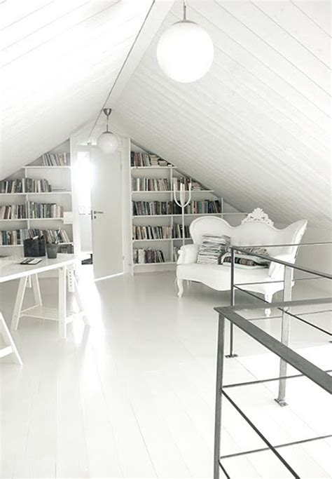 20 creative attic library for function room home design modern white attic library