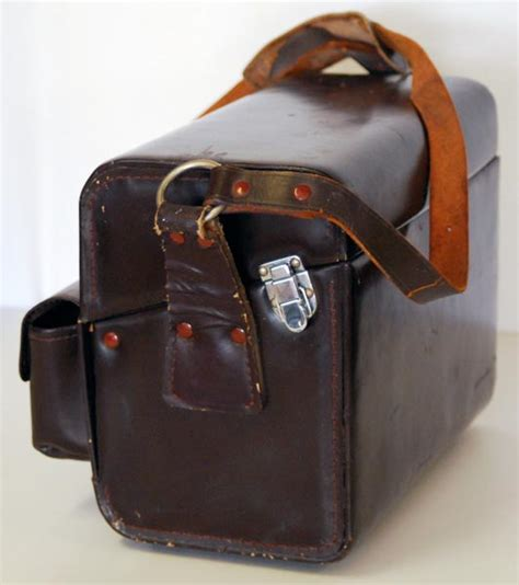 nikon fb 5 vintage leather compartment bag fb5 ebay