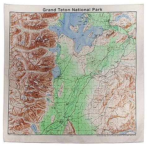 grand teton national park map smokey the paisley bandana bandanas outdoor themed