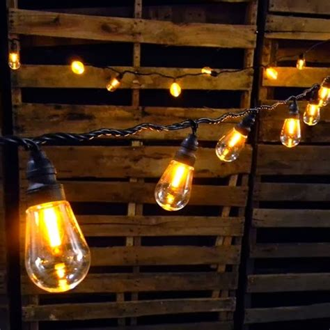 Led Patio String Lights Let S Stay Edison String Light Pendants