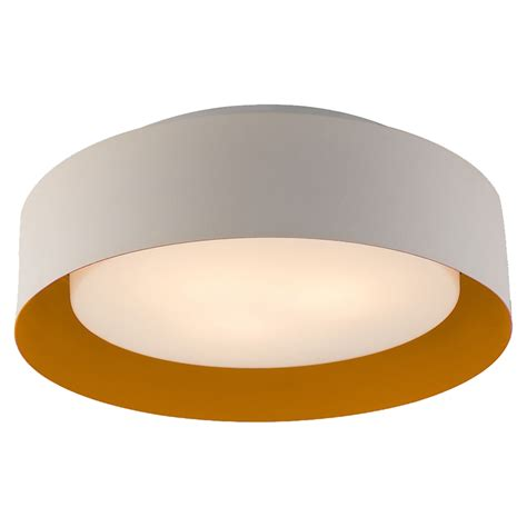 Kitchen Carts Islands lynch flush mount ceiling light white and orange dcg